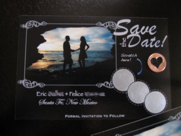Scratch off Save the Date