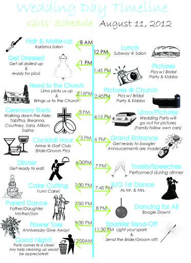 wedding ceremony timeline template. Black Bedroom Furniture Sets. Home Design Ideas