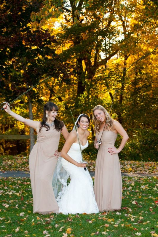 Post ceremony photo fun! :  wedding bridesmaids dress fun photos inspiration military saber sword Sword 1
