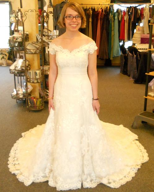 The real deal! :  wedding casablanca champagne dress Dress Full View