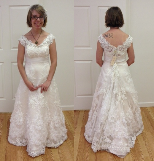 Wedding Gown Alteration: My Dress Is Almost There! (alterations In Process