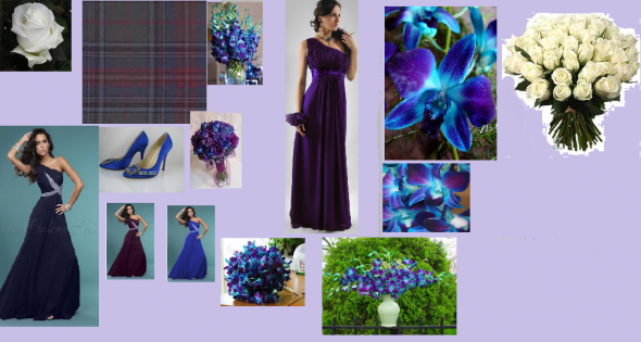 Wedding Inspiration Board Photos wedding blue purple ivory silver