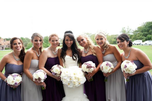 Bridesmaid dresses in different colors :  wedding bridesmaids 092912AllisonBrian 100