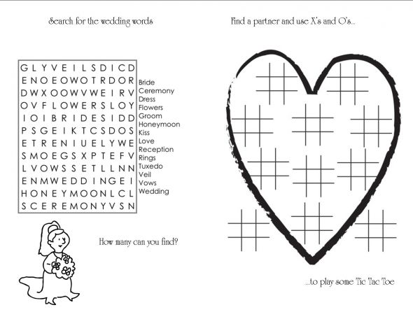 Kids' coloring and activity book | Weddingbee Photo Gallery Wedding Bouquet Coloring Pages