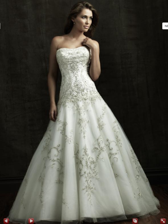 Свадебные платья с вышивкой фото 5