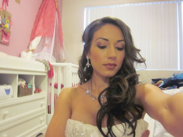 Diy make up trial :  wedding ivory pink silver IMG 0990