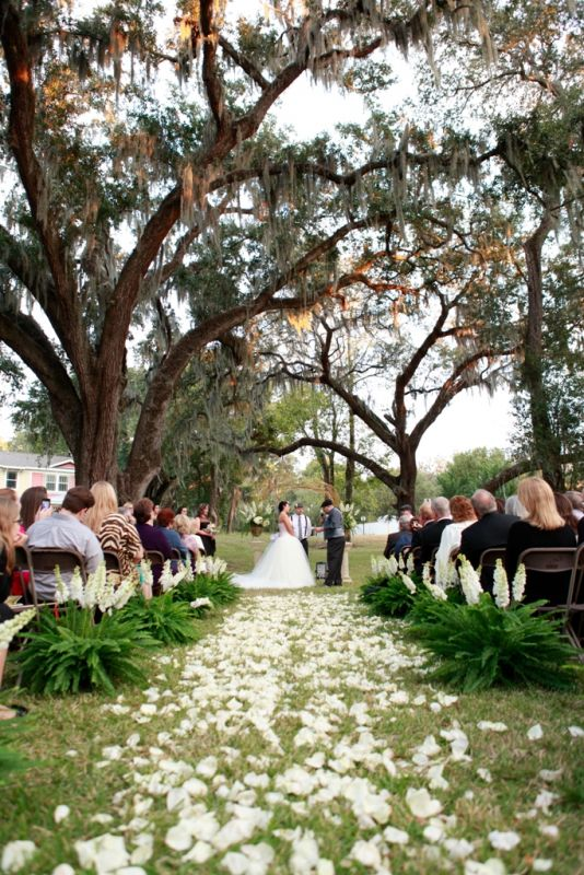 My Fairytale Outdoor Ceremony :  wedding black ceremony dress flowers green inspiration pink silver teal white Ceremony1