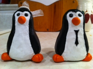 My Penguin cake toppers!