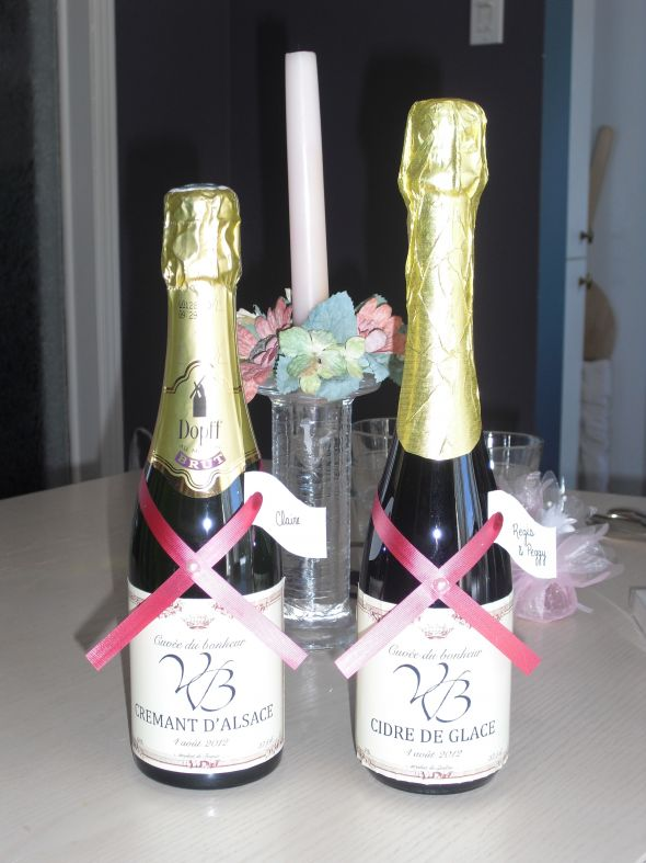 Champagne and guava wedding