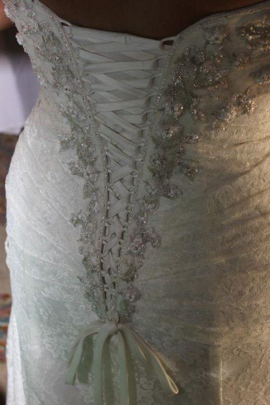 Modern Vintage Lace Wedding Dress : Vintage modern lace back dress weddingbee photo gallery