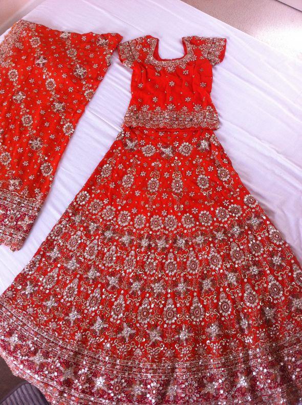 Traditional Punjabi Indian Bridal Dress Lengha 825 wedding red