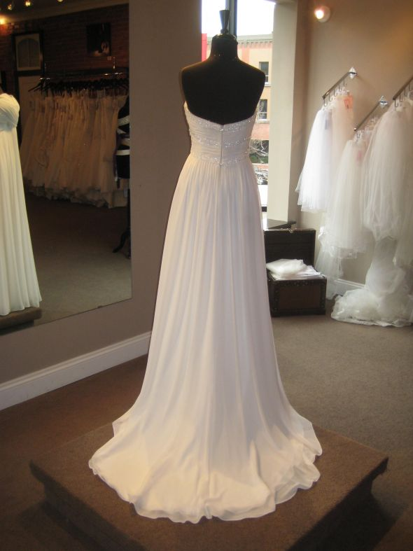 Bustling chiffon for Wedding dress train bustle