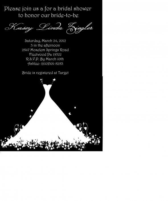 bridal shower invitations wedding diy bridal shower invites black white