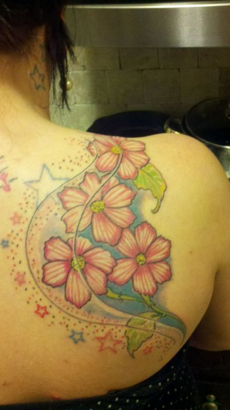 Gallery For > Cosmo Aster Flower Tattoo