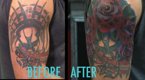 I hate my tattoo cover up ideas weddingbee for Big tattoo cover up