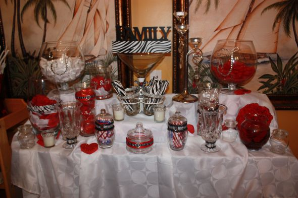 Zebra print Candy buffet mock