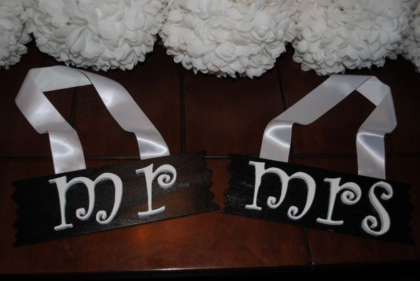 WOODEN MR. AND MRS. SIGNS