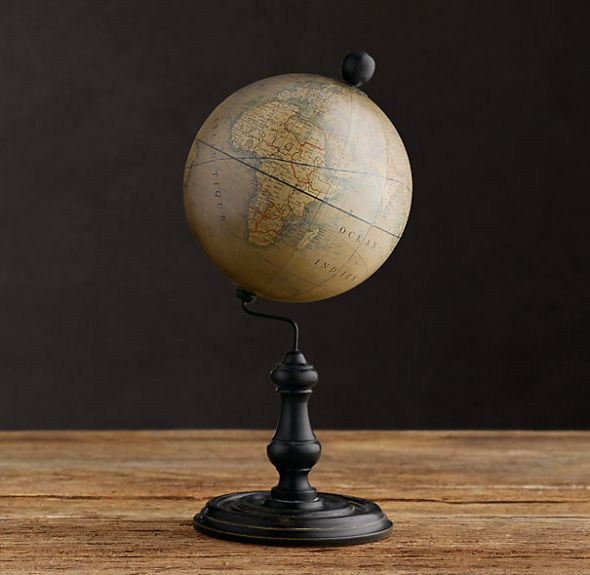 Vintage Antique Globes for Travelthemed Centerpieces wedding globe globes