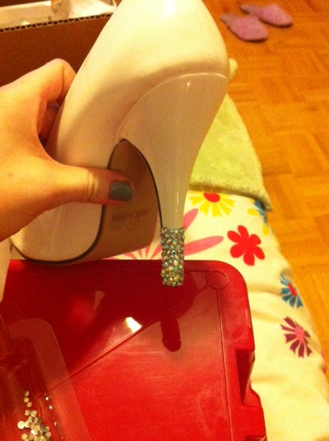 DIY Crystal Wedding Shoes wedding diy shoes bejeweled wedding shoes shoe