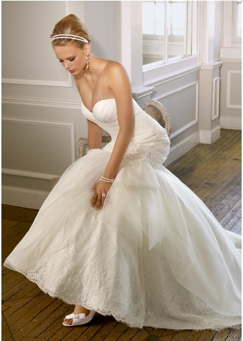 wedding brides gown mori lee organza petite Mori
