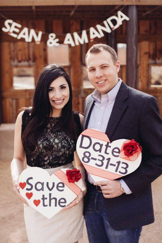 DIY Save the date signs