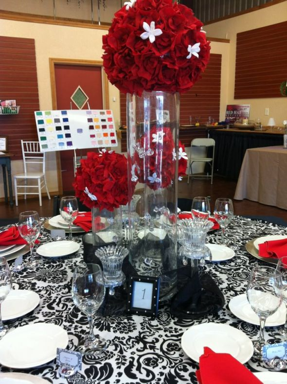 Faux red rose petal pomander weddingbee photo gallery