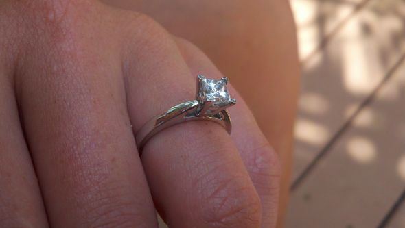 Post pics of wbands to accompany princess cut solitaire ering