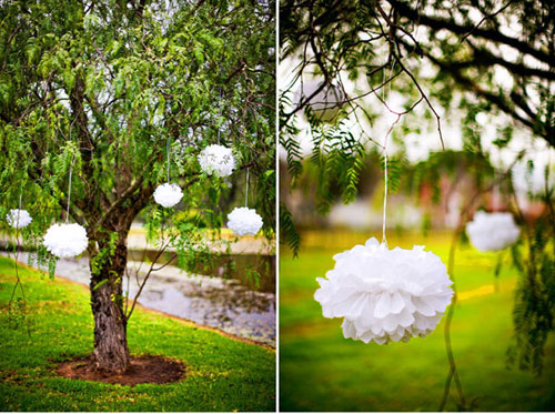 Decorate treeline for an outdoor wedding « Weddingbee Boards