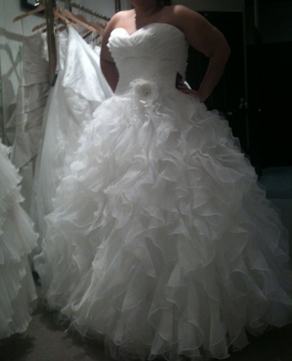 possible wedding dress..what does everyone think :  wedding black white 4816 Mori Lee