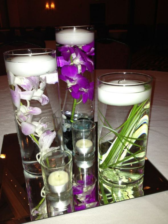 how to keep flowers submerged in water