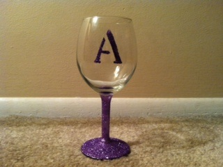 Glittered wine glasses for my girls weddingbee photo for Do it yourself wine glasses