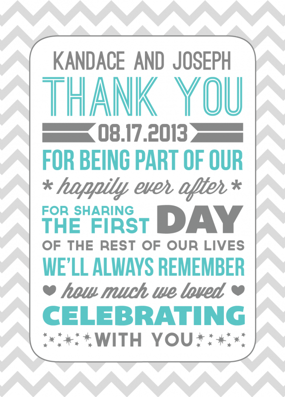 Thank You For Wedding Gift Note Sample : Thank Yous Weddingbee Photo Gallery
