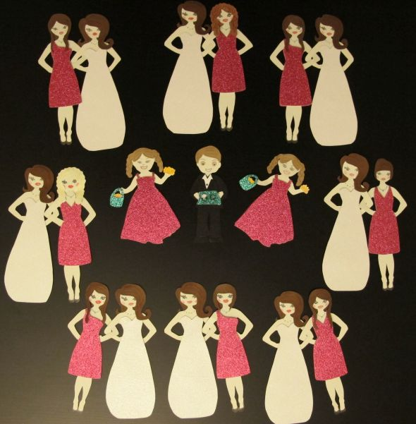 DIY Bridesmaid invites (& flower girl + Ring Bearer)