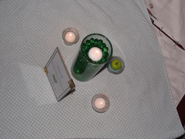 wedding centerpiece candles