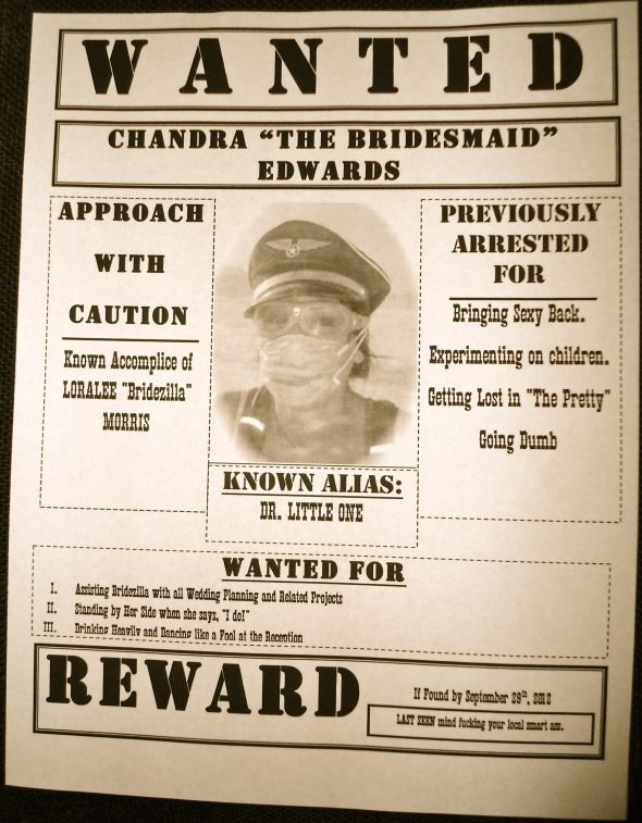 Bridesmaid Invitations (Wanted Posters)