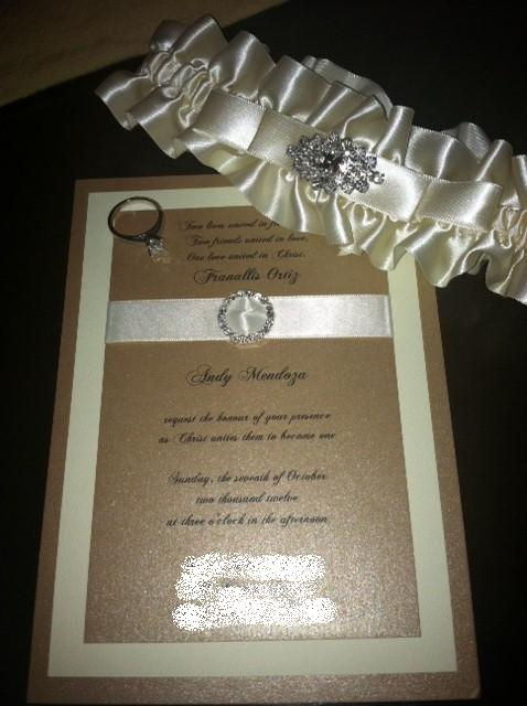 My invitation, garter, and ring, I w
