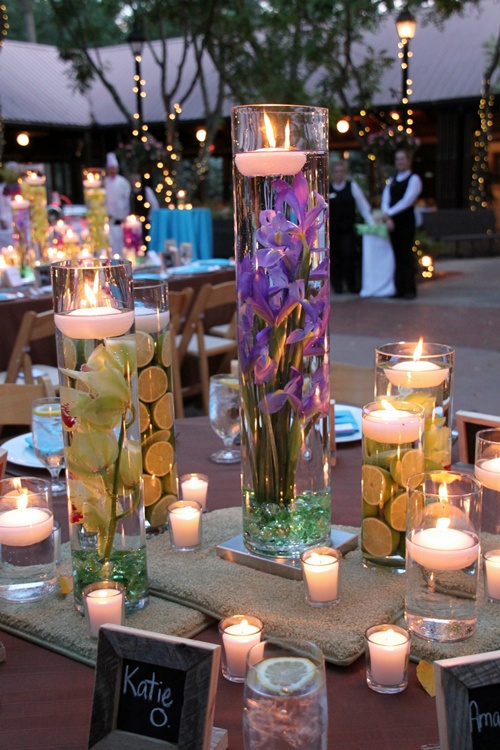 Flowers And Limes Centerpieces Weddingbee Photo Gallery