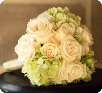 Hydrangea and rose bouquet inspirati