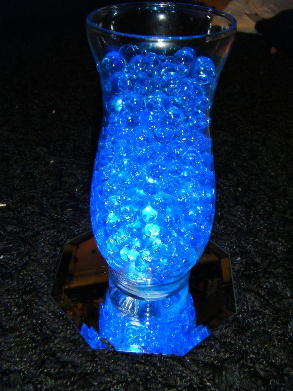 Light blue flowers centerpieces