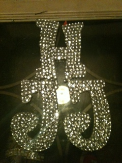 My DIY blingy Initials