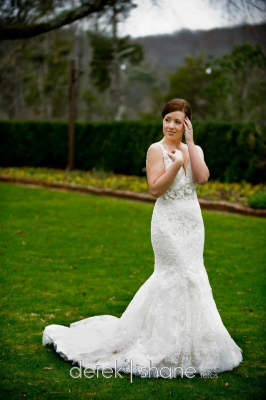 My wedding gown- I'd wear it everyday if I could :) :  wedding dress teal 406641 10151099573340324 509725323 21871214 609718938 N
