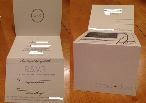 had to share our tri fold invites