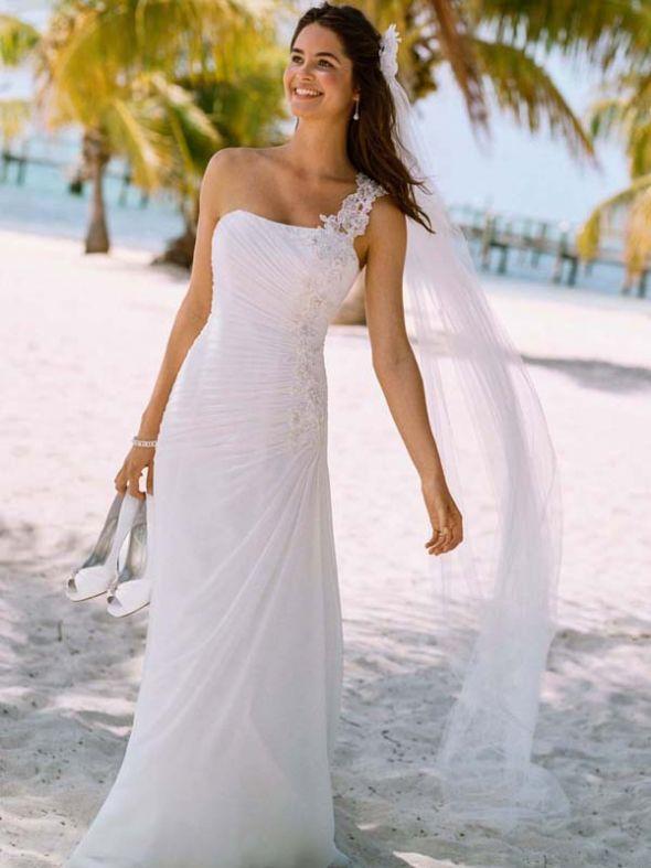 Dress twins? David\'s Bridal One Shoulder Chiffon V3398