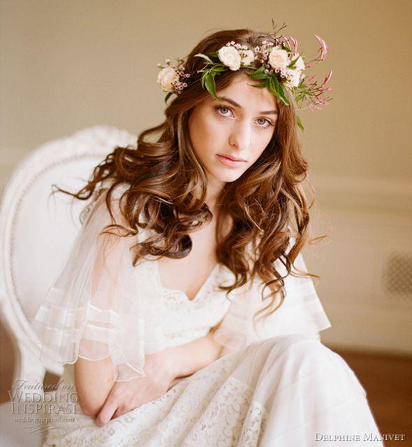 jasmine flower crown | Wedding Hair and Makeup | Pinterest