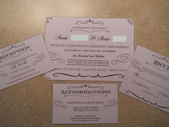 Beginnings of our Invitations