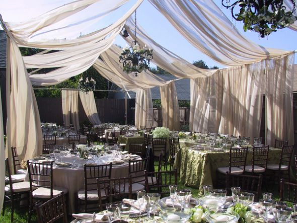 Backyard Bride on a Budget wedding Backyard Wedding Receptions A Perfect