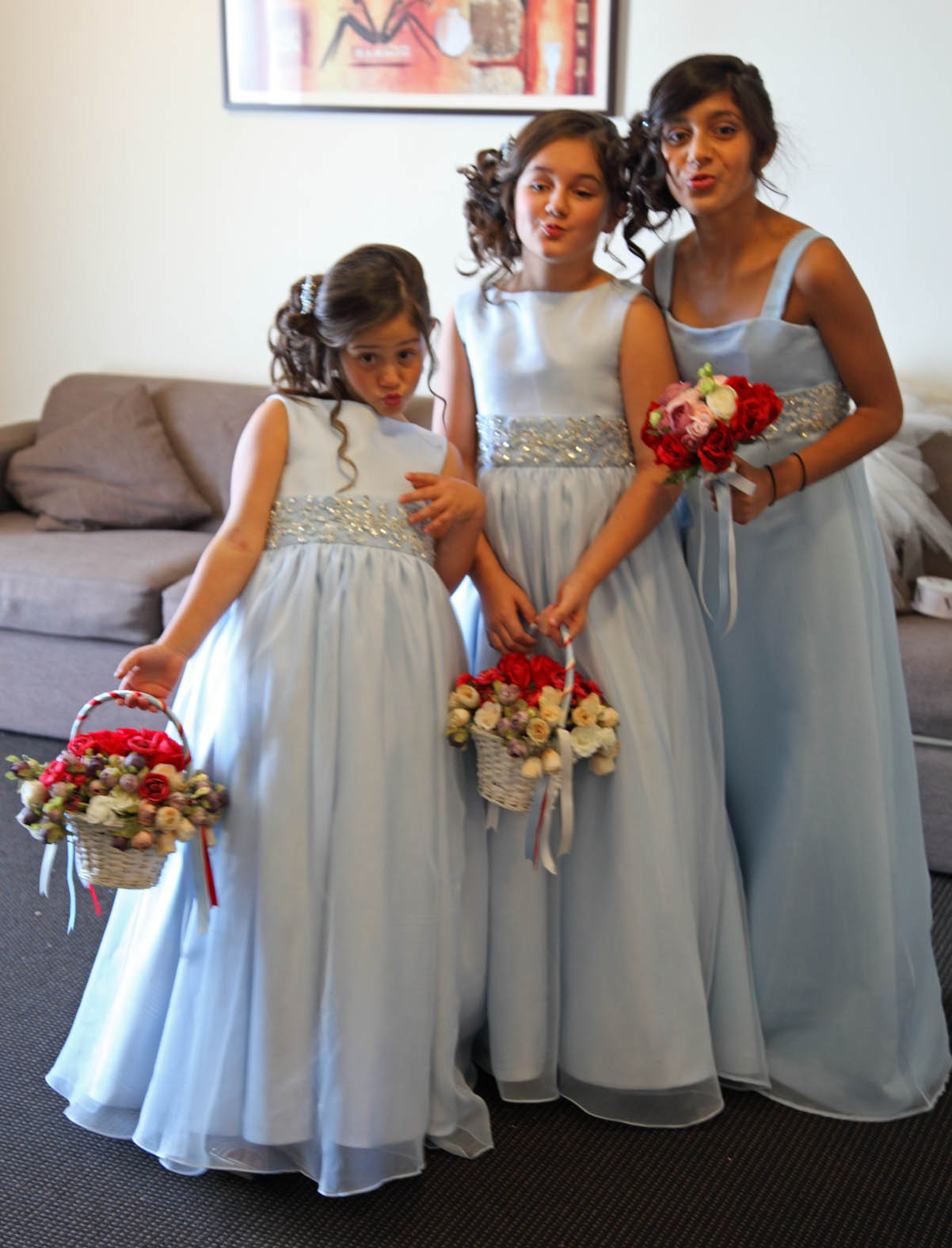 Jasmine bridal shop my daughters wedding pic heavy flower girl red dress with sign izmirmasajfo