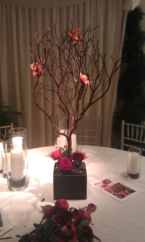 Torn on Fall Flowers Please help wedding Manzanita Centerpiece