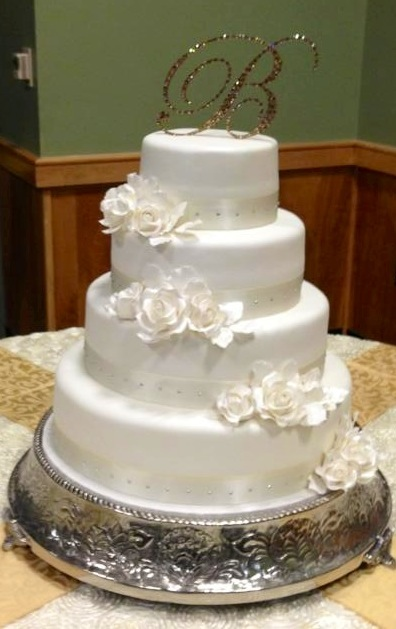 Pin And Elegant Wedding Cake Bling Topper Cake On Pinterest