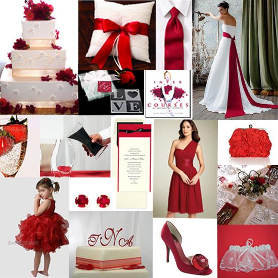 Dark Red Wedding Decorations: Red Wedding Theme Inspiration
